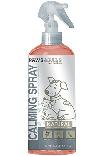 Pet Natural Calming Spray For Dogs And Cats With Chamomile  Aloe Vera And Lavender   12Oz