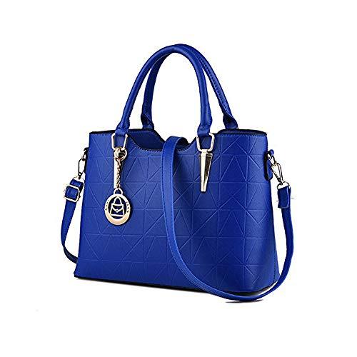 Royal Blue Tote Handbag - LIZHIGU Womens Leather Shoulder Bag Tote Purse Fashion Top Handle Satchel Handbags Royal Blue