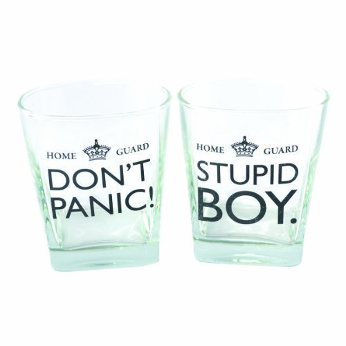 Dad's Army - Pair Of Whiskey Glasses Pink Sumo UKASNHKTN7328