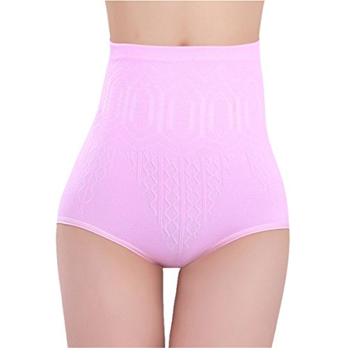 Price comparison product image Nadition Sexy Panties Clearance  High Waist Tummy Control Body Shaper Briefs Slimming Pants (Pink, Free Size)