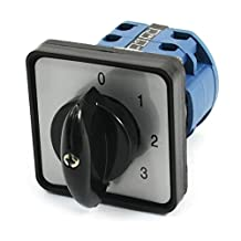 uxcell® Ui 660V Ith 20A 0-4 Positions Rotary Cam Universal Changeover Switch