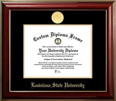 - Louisiana State University Gold Medallion Diploma Frame (11 x 14)