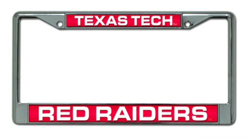 Rico Industries NCAA Texas Tech Red Raiders Laser Cut Inlaid Standard Chrome License Plate Frame