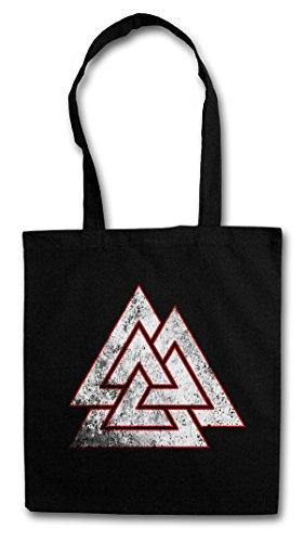 WOTAN VALKNUT SYMBOL Hipster Shopping Cotton Bag Cestas Bolsos Bolsas de la compra reutilizables - Dios Celtes Teutones