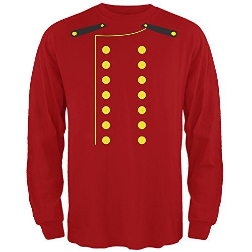 Halloween Hotel Bellhop Costume Red Adult Long Sleeve T-Shirt - Large (Colleges For Costume Designers)