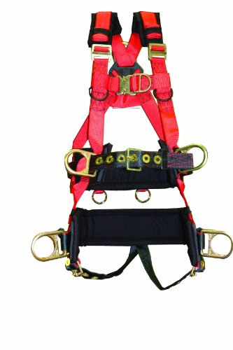Elk River 66612 EagleTower Polyester/Nylon LE 6 D-Ring Harnesses with Quick-Connect Buckles, Medium