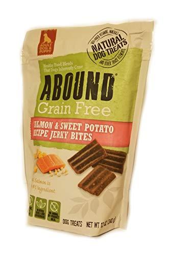 Abound Grain Free Salmon & Sweet Potato Recipe Jerky Bites, 12 oz (Abound Salmon And Sweet Potato Dog Food)