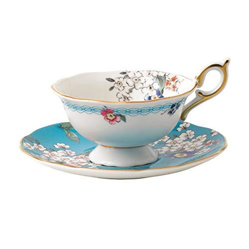 Wedgwood 40024024 Wonderlust Teacup & Saucer Set Apple Blossom, 2 Piece