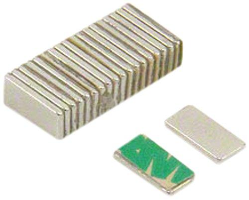 Magnet Expert® Adhésif 10 x 5 x 1mm N42 néodyme aimant, 0,6kg force d'adhérence, Sud, pack de 20 6kg force d'adhérence Magnet Expert® F1051SA-20