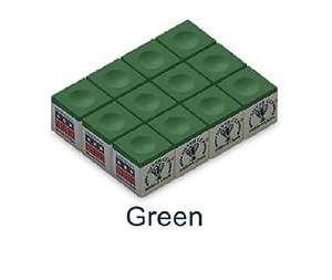 Silver Cup Billiard/Pool Cue Chalk Box, 12 Cubes