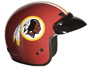 Brogies Bikewear NFL Washingtonskins Motorcycle Three Quarter Helmet (Red, Small)