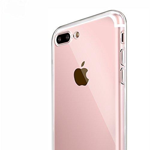 iPhone 7 Plus Case, Shamos [Crystal Clear] Case [Shock Absorption] Cover TPU Rubber Gel [Anti Scratch] Transparent Clear Back Case, Soft Silicone, TPU (Clear)