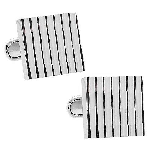 Bamboo Cufflinks (Silver Bamboo Stripe Cufflinks)