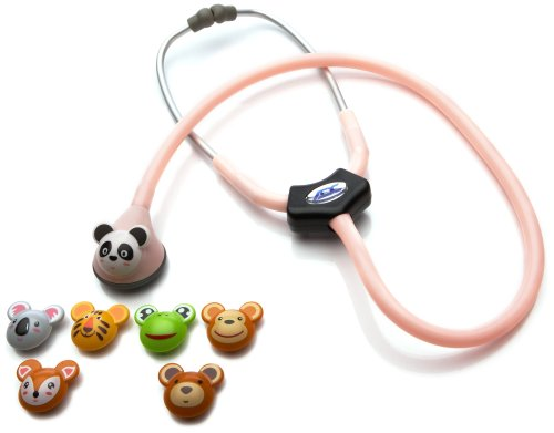 ADC Adscope Adimals 618 Pediatric Stethoscope With Tunable Afd Technology, Pink, 30 Inch, 8.8 Ounce