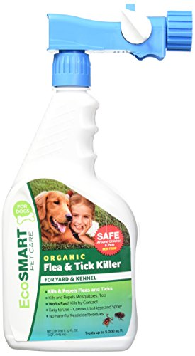 Tick Home Killer Spray (EcoSMART Botanical Yard and Kennel Flea and Tick Killer, Best Pet Safe Insecticide, 32 oz Ready-to-Spray Bottle )