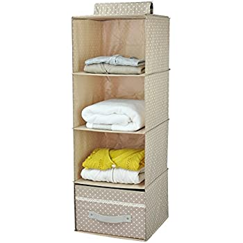 Captivating Iwill CREATE PRO Collapsible Hanging Wardrobe Storage Shelves, Shoe Rack,  4 Tier With