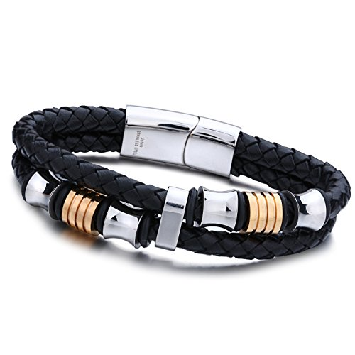 Jstyle Stainless Braided Bracelet Magnetic Clasp
