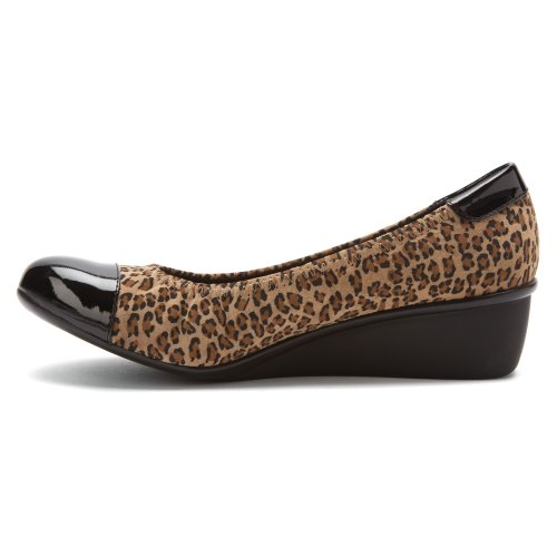 Drew Shoe Mujeres Elizabeth Pumps Leopard Stretch