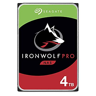 Seagate IronWolf Pro 4TB NAS Internal Hard Drive HDD - 3.5 Inch SATA 6Gb/s 7200 RPM 128MB Cache for RAID Network Attached Storage, Data Recovery Service - Frustration Free Packaging (ST4000NEZ025) from Seagate Bare Drives