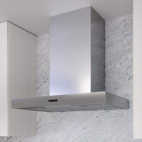 Miseno MH00830BS 30 Inch Wide 750 CFM Wall Mounted Range Hood with LED Strip Lighting and Capacitive Controls