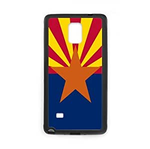 Arizona State Flag SamSung Galaxy Note 4 Plastic and TPU Durable Phone Case Cover(Laser Technology)