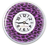 Purple & Black Leopard Locker Clock