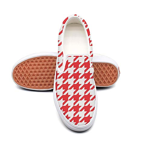 - Art mini square red checkerboard white Sneaker Shoes for Men Low Top Breathable Trail Running Shoes