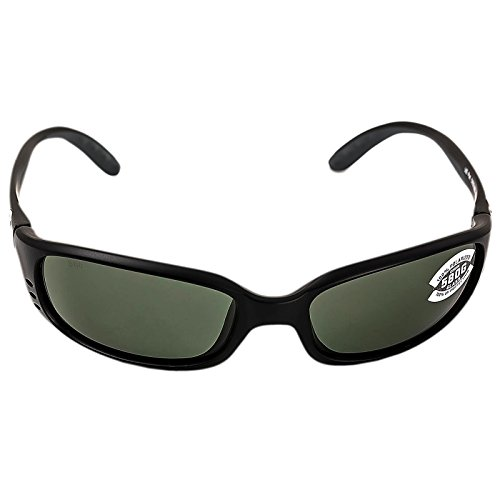 Costa Brine Polarized Sunglasses - Costa 580 Glass Lens Matte Black/Gray, One - Glass 580 Costa