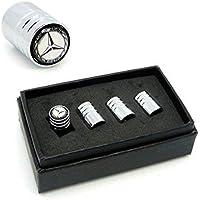 4pcs Long Valve Cap Stem Cover Silver for Car Tire External Accessories Compatible with Mercedes-Benz Car Model Tire Valve Cap Decoration