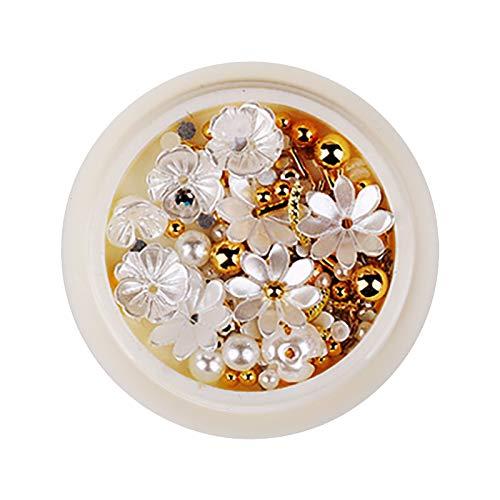 3D Nail Art-Diamonds Beads Laser Mermaid Color Shell Flower,Nail Art Shell Flower Jewelry Decoration Resin Flower Nail Decoration, Nail Art Gems Rhinestone,Nail Rhinestones(#23)