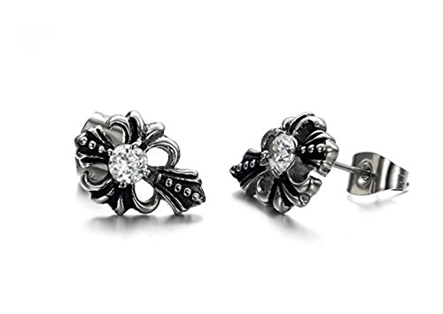 1/2 Ct Heart Cut Loose Diamond (Fashion Jewelry Delicate Personality Cross Earrings Stud Earrings for Women Men Vintage)