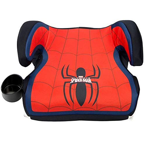 (KidsEmbrace Spider-Man Booster Car Seat, Marvel Youth Backless Seat, Red)