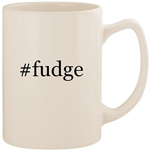 #fudge - White Hashtag 14oz Ceramic Statesman Coffee Mug Cup