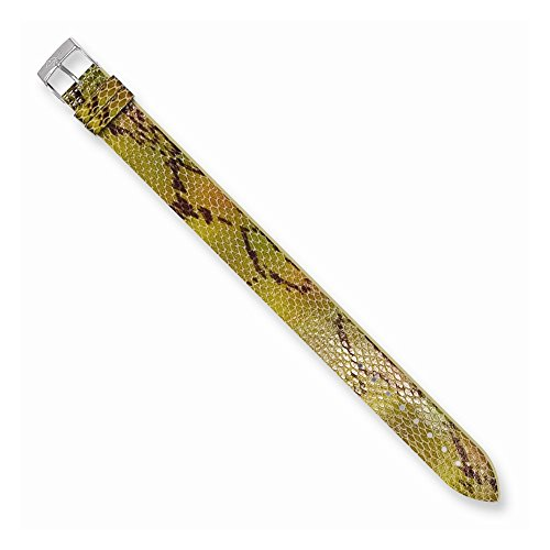 Moog Paris PY-07 Python Texture Calf Leather Polished Finish Watch Strap