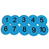 Eco Walker 8inch Numbered Basketball Training Markers Set of 5