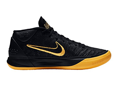 Nike Menns Kobe Annonse Nylon Basketball Sko Svart / Universitet Gull