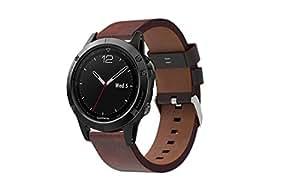 garmin fenix 5 watch band enow premium genuine leather strap classic bracelet. Black Bedroom Furniture Sets. Home Design Ideas