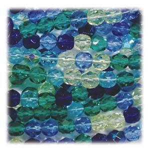 Blue 6mm Czech Glass Beads - 9