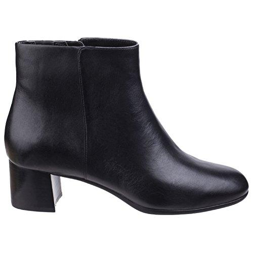 Bottines Leather Motion Femmes Noir Total Fermeture Novalie Bottes Zippée Rockport Chaussures fwO4qXvv