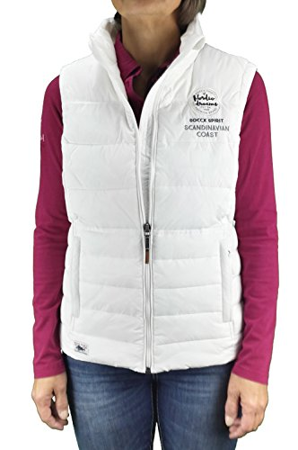 SOCCX - Chaleco - chaqueta guateada - para mujer marfil