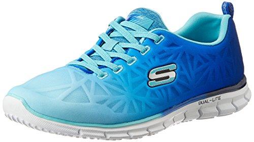 Skechers deporte zapatilla de deporte de la manera de celo marino/azul