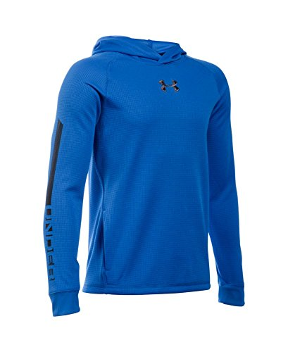Under Armour Boys' Waffle Hoodie, Ultra Blue (907), Youth X-Large