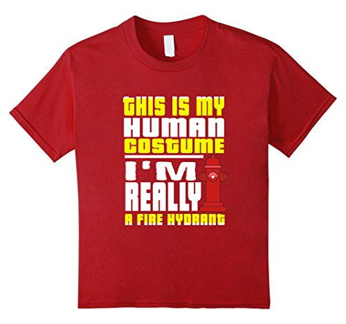 Kids Funny This Is My Human Costume Really A Fire Hydrant T-Shirt 8 (Fire Hydrant Costume Child)