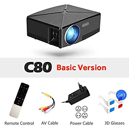 Amazon.com: LCD Projectors - Proyector C80 UP, 1280x720 ...