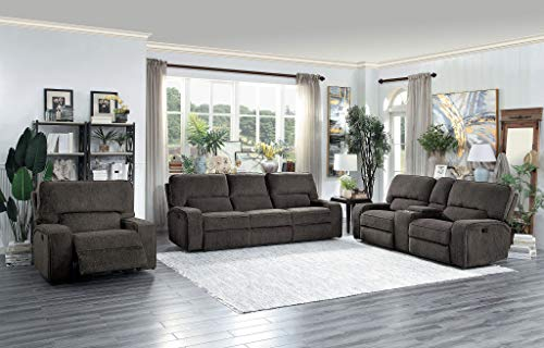 Homelegance Borneo Manual Reclining Sofa Set, Chocolate ()
