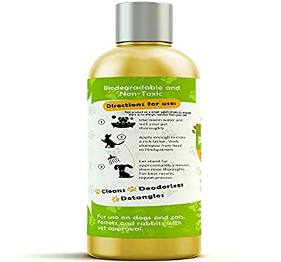 Pro Pet Works Natural Oatmeal Dog Shampoo + Conditioner Dogs Cats-Hypoallergenic Soap Free Natural Oils Aloe Allergies & Sensitive Skin-Organic Blend 17oz by Pro Pet Works
