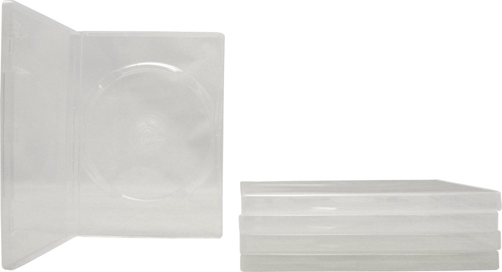 5 Empty Standard Clear Replacement Boxes / Cases for Single DVD Movies #DVBR14CL