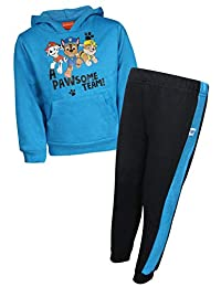 Nickelodeon Paw Patrol Boys 2-Piece Pull Over Fleece Hoodie Sweatpant Set, Pawsome Team, Size 4T'