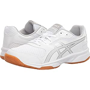 ASICS B755Y Women's Upcourt 2 Running Shoe, White/Silver - 7 B (M) US