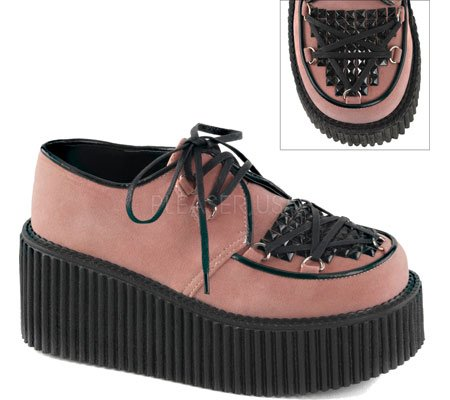 Demonia Suede 216 Pink B CREEPER Vegan q0ZwBaq